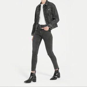 Everlane High-Rise Washed Black Skinny Jeans